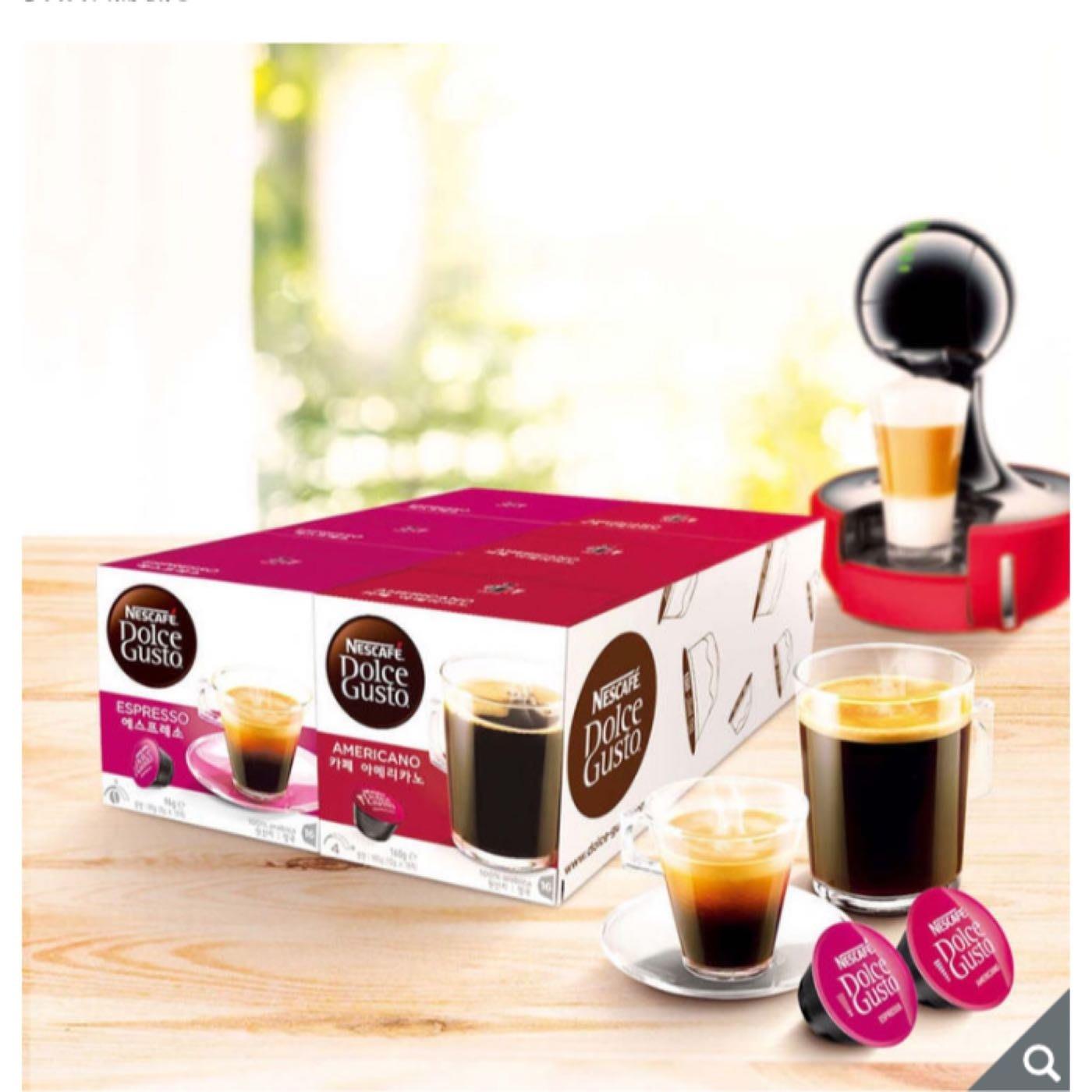 Dolce Gusto 雀巢義式+美式咖啡膠囊組 100%阿拉比卡豆(每盒16顆*6盒)