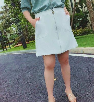 ✿plump girl 氣質✿中大尺碼女裝孕婦裝拉鍊半身裙女YQ121