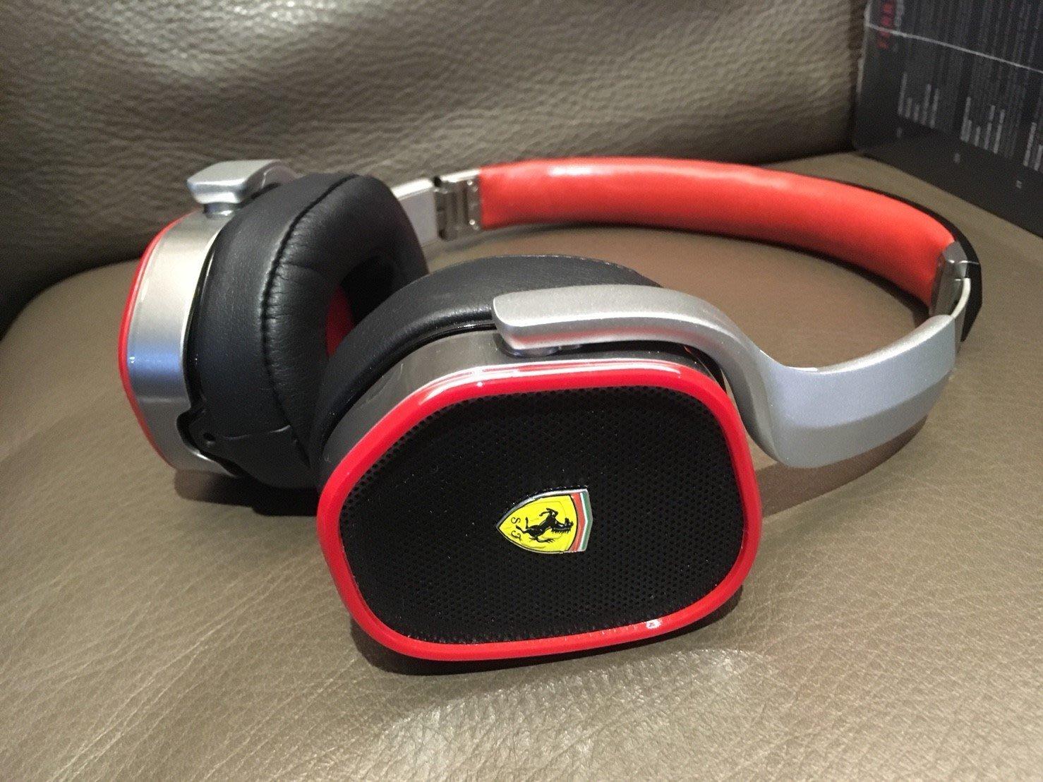 法拉利 Ferrari R200 頭戴式耳罩式耳機 二手 9.9新