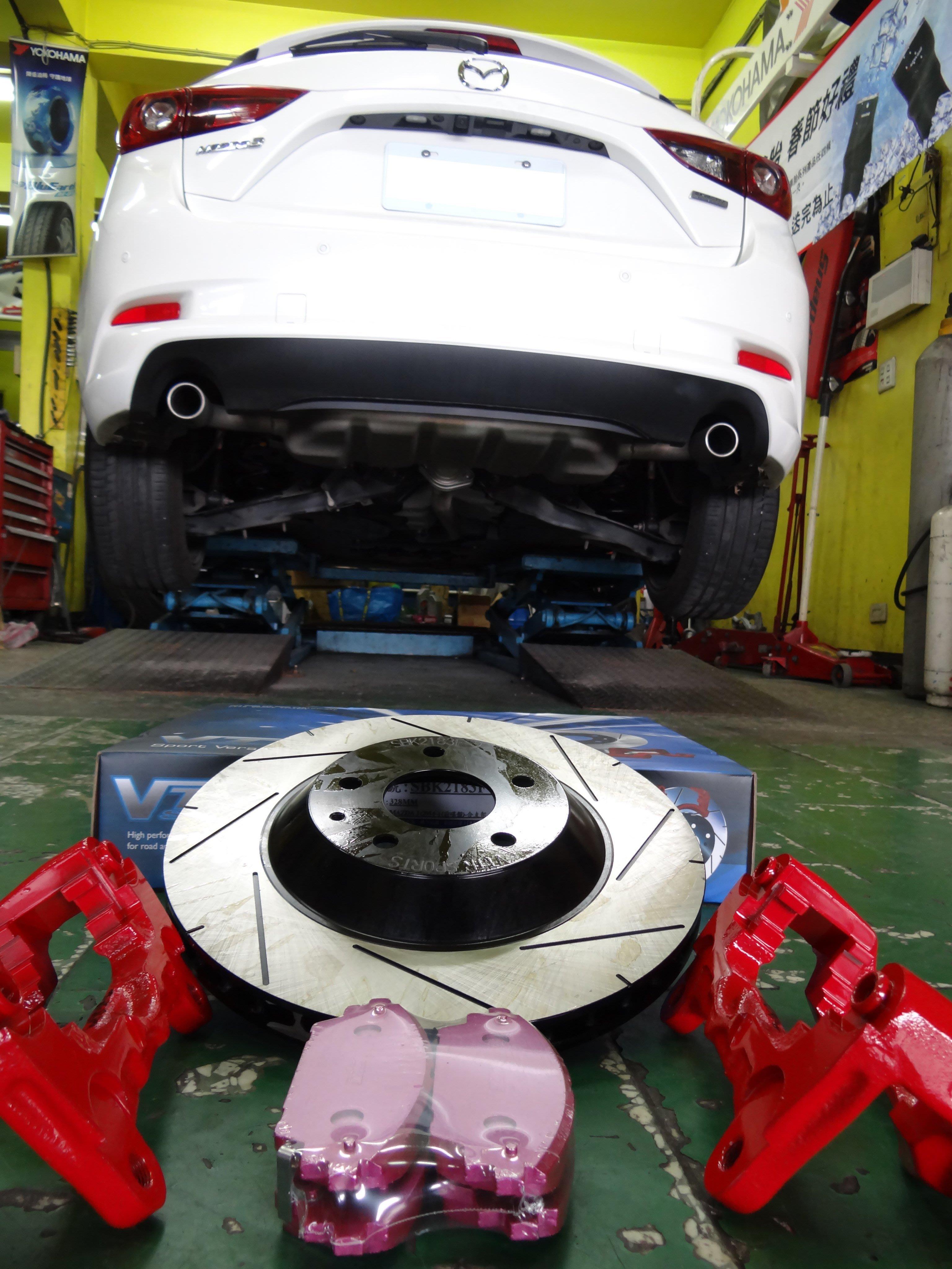 {順加輪胎}新馬3 VTTR 330mm 前加大劃線碟 附C型座 運動來令片 另有後加大碟 FORTIS CAMRY