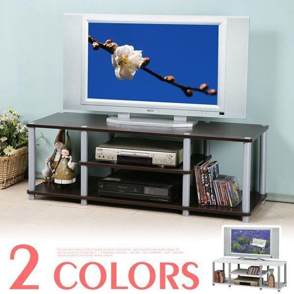 簡約電視櫃(寬120cm) 收納櫃 置物櫃 CD櫃 視廳櫃 展示櫃【Yostyle】TV-9003(胡桃/純白)