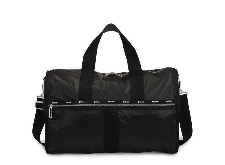 Lesportsac 2296 黑底復古花 正品 Functional Backpack 大型拉鏈雙肩後背包 限量優惠