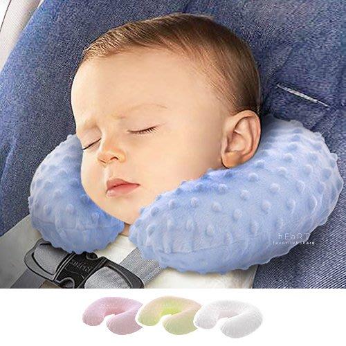 【可愛村】兒童U型旅行充氣枕頭 充氣枕 頸枕 兒童護頸枕