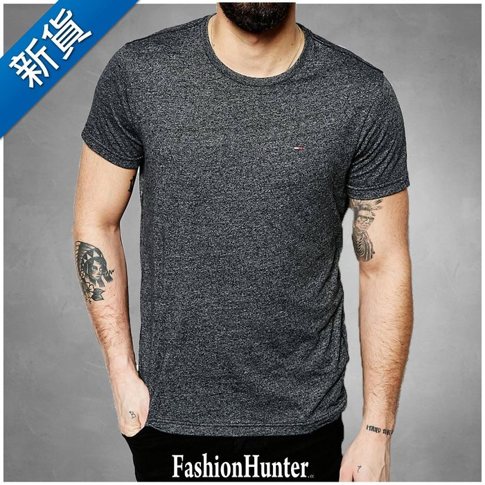 新貨【FH.cc】Tommy 素t 短袖T恤 鐵灰 刺繡Logo 領口內側撞色加強條 另有 Timberland A&F