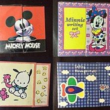 全新迪士尼 米奇Micky 米妮Minnie  Sanrio PC DOG Pochacco 飛機仔 信封信紙套裝(包平郵)