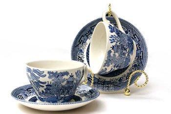 杯盤展示架--金色古典展示盤架立架/1杯1盤展示架、展示杯架--秘密花園