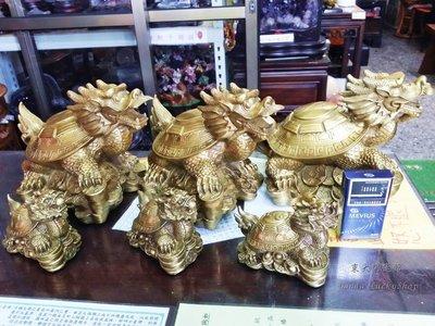 大銅龍龜擺件純黃銅  長約26公分 銅...