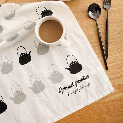 ◕‿◕。巴黎香戀❤zakka 無印良品風 北歐風全棉茶壺茶巾兩款可選烘焙廚房用具 餐巾 餐墊