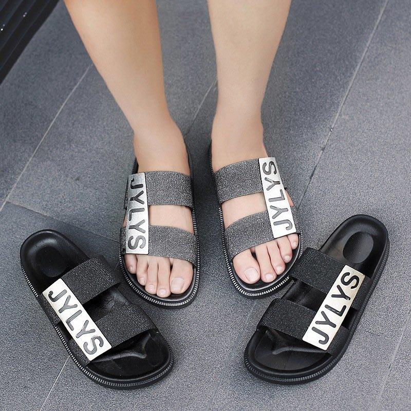 2018新款越南男拖鞋夏季一字雙帶男士涼潮流防滑沙灘鞋