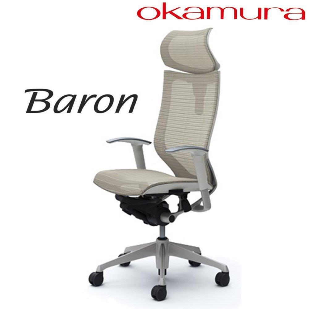 《瘋椅世界》Baron人體工學網椅 【白框版/可動頭枕】 喬治亞羅巨 作進口椅首選品牌 AERON、EMBODY參考