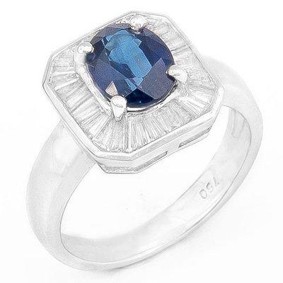 【JHT 金宏總珠寶/GIA鑽石專賣】1.06ct天然藍寶造型鑽戒/材質:18K(S00008)