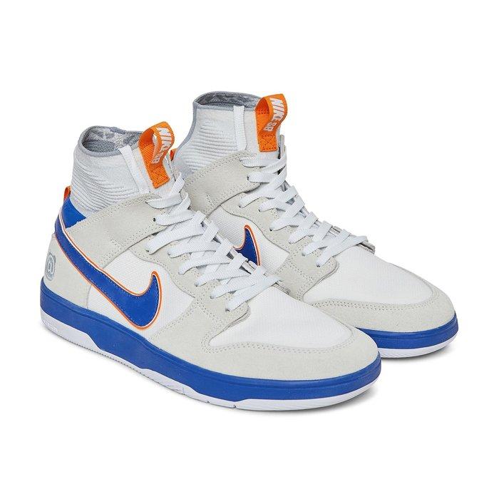 =CodE= NIKE DUNK HIGH ELITE SB X BE@RBRICK 滑板鞋(白藍)918287-147