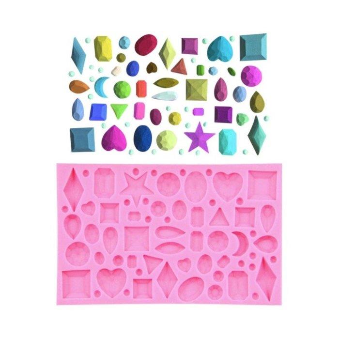3D鑽石液態矽膠模具 巧克力肥皂模 翻糖蛋糕裝飾模 果凍模 干佩斯 模 烘焙裝飾模具 顏色