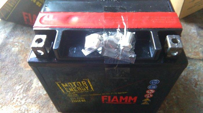 @E-路發電池@@歐洲義大利FIAMM原廠品牌@YTX14-BS@HONDA,BMW重型機車電池(Yahoo促銷交易平台