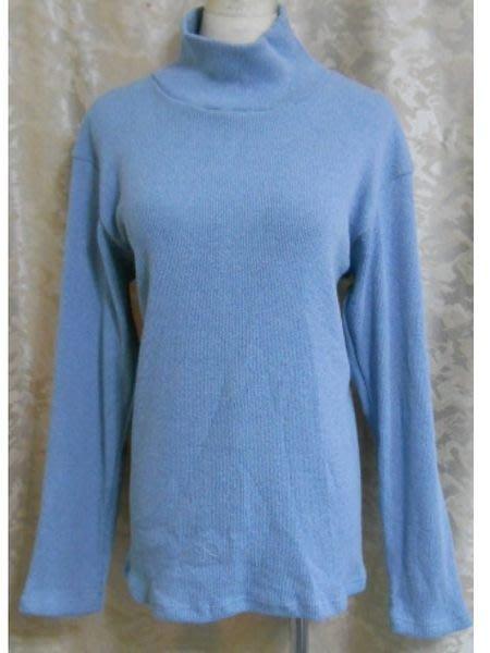 ~麗麗ㄉ大碼舖~大尺寸F 38~40吋 靛藍 鐵灰色羅紋高領長袖彈性上衣~