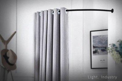 【 輕工業家具 】C型半圓弧更衣室鐵管吊桿—1/4圓形黑色白服飾店試衣間L型牆角轉角門簾窗帘桿吊衣桿衣架壁掛工業風水管