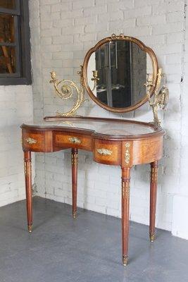 十九世紀法國路易十六風格 胡桃木梳妝刻...