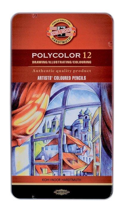 【Artshop美術用品】捷克 KOH-I-NOOR 藝術家油性色鉛筆 (12色) 鐵盒