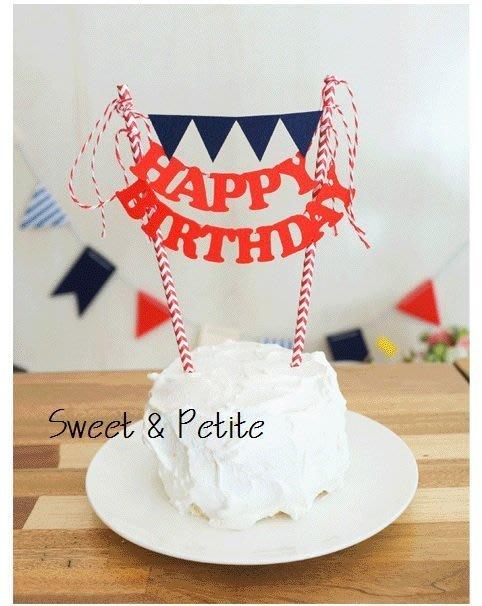 PR73❤三角旗字母款蛋糕插旗DIY 包❤紅色英文字 藍色三角旗 慶生派對蛋糕裝飾插牌道具