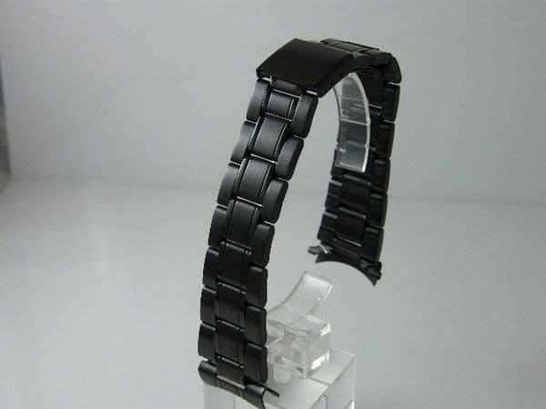 錶帶屋 14mm 18mm 20mm 22mm有效替代各式相容原廠錶帶的彎頭pvd黑色不銹鋼 現貨商品