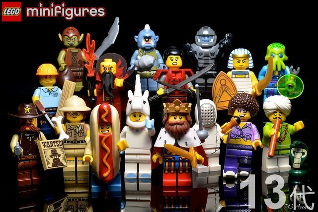 【LEGO 樂高】益智玩具 積木/ Minifigures人偶系列: 13代人偶包抽抽樂 全新未組僅拆袋確認 71008