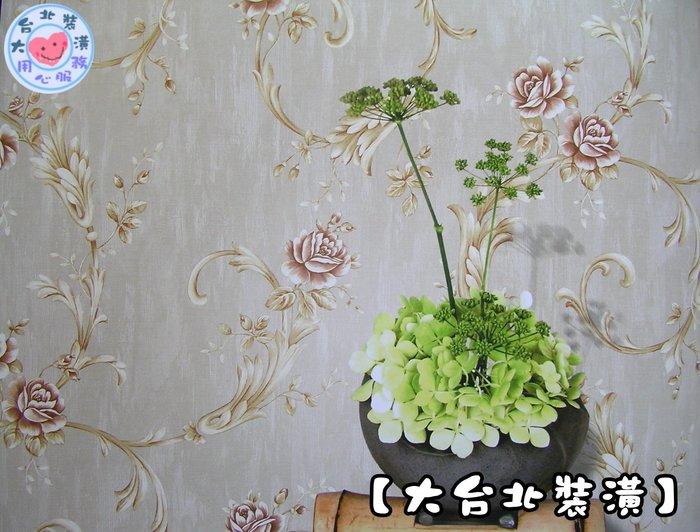 【大台北裝潢】KU國產現貨壁紙* 花朵藤(3色) 每支360元