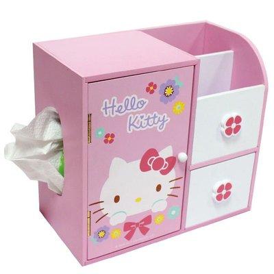 Hello Kitty KT多功能桌上型收納盒 面紙盒AE110491