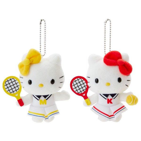 4165本通 造型玩偶吊鍊組 凱蒂貓-網球 4901610382745