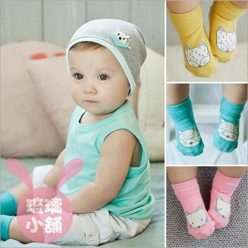 《琉璃的雜貨小舖》韓國 狐狸 狸貓 小動物 寶寶襪 兒童襪 短襪