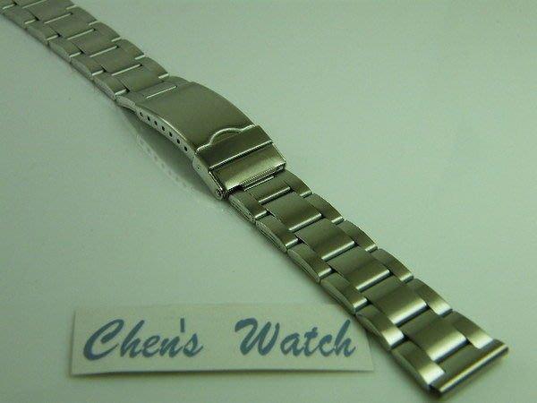 錶帶屋 平頭不鏽鋼製單折扣錶帶有效替代22mm 24mm 26mm 現貨商品