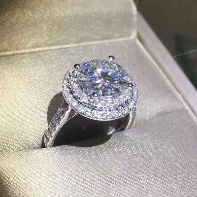 雙環微鑲結婚鑽戒高碳鑽女款3克拉適合莫...