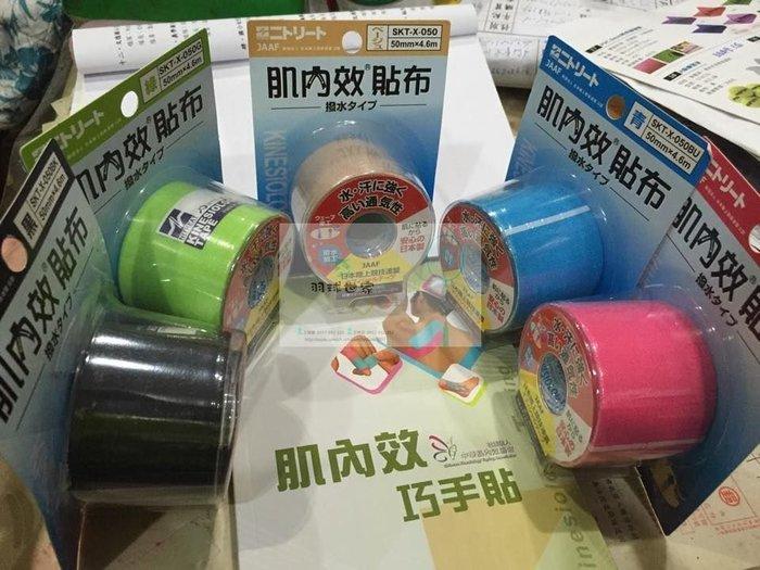 ◇ 羽球世家◇ NITTO 肌內效貼布 防水 肌貼 日本陸上競技聯盟公認(兩入裝) 日本製《保證正品》