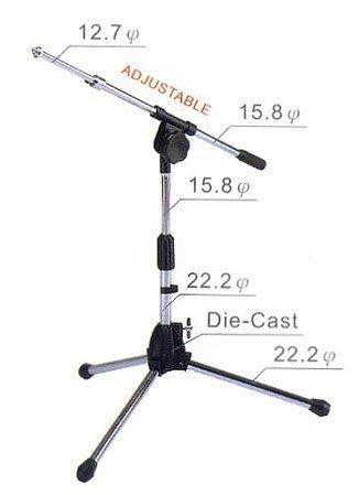 【六絃樂器】全新台灣製 YHY MK-160 斜撐短式麥克風架 升縮直桿+斜桿+麥克風夾 / 工作站錄音室 專業音響器材