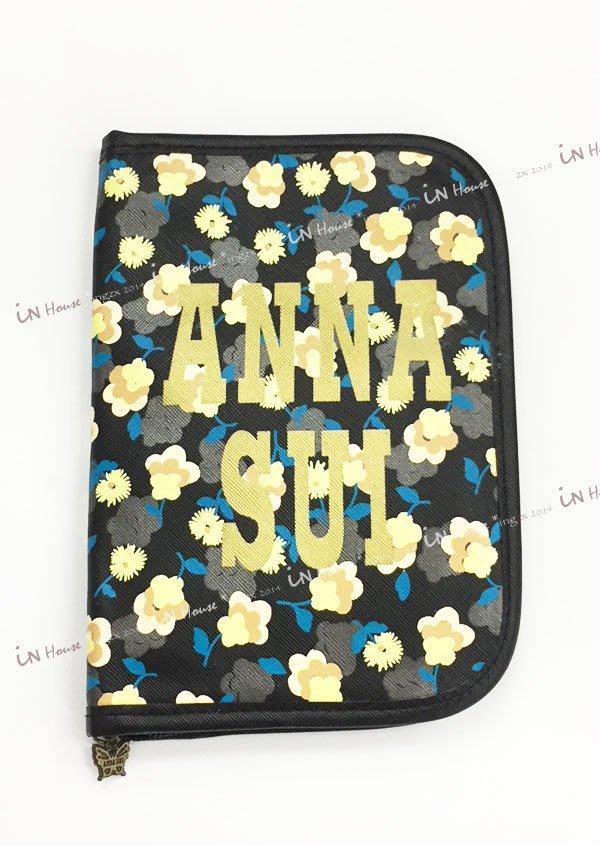 IN House* 日本ANNA SUI 雜誌附錄贈品 安娜蘇 雛菊 多功能 護照夾 存摺 卡片 收納包 手帳本 錢包