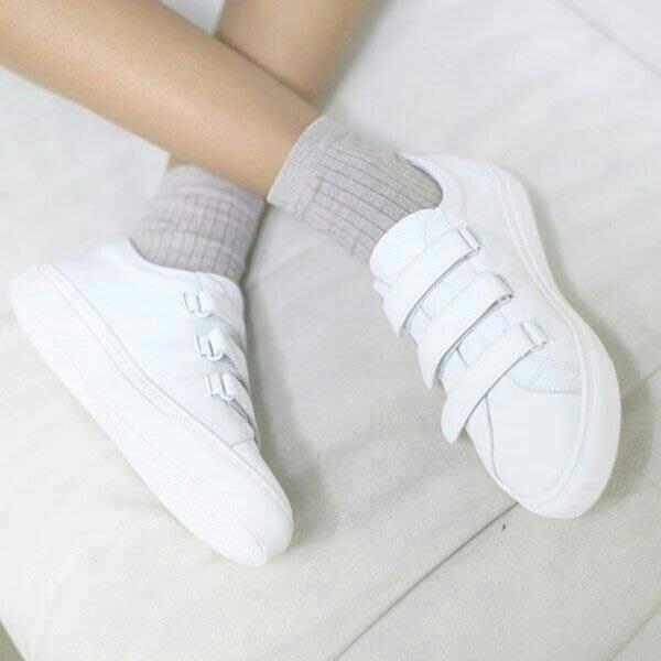 韓國空運 素色百搭皮革綁帶造型懶人鞋 便鞋 娃娃鞋 休閒鞋 2色 【ST3678】♥tutti.moda♥早秋