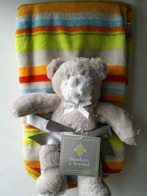 【美國品牌】100%全新正品 嬰幼兒 輕柔舒眠 極柔絨毯/ 毛毯/ 抱毯/ 萬用毯 冷氣房可用 彌月禮 二件組BAB21