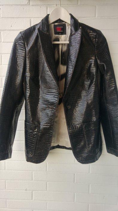 $5999起標 Miss Sixty LUXURY仿真皮鱷魚壓紋西裝皮衣