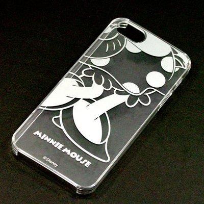 尼德斯Nydus~* 日本正版 Disney 迪士尼 透明系列 手機殼 保護殼 iphone 5 5S 米妮 PN-5211