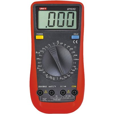 TECPEL 泰菱 》UNI-T 優利德 UT-151C 交直流電壓、電流、電阻、電容、溫度、二極管、頻率以及電路通斷