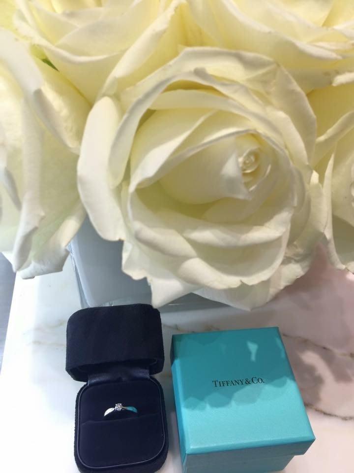 年年漲價~舊金山購入~正品小鑽戒~Tiffany Harmony Ring~戒圍美規6號~限台北精品正櫃保養面交