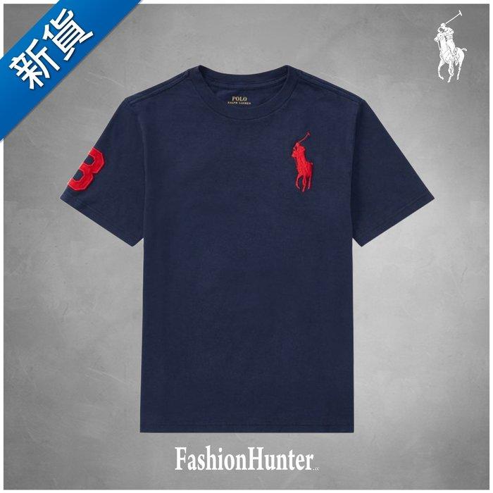 新貨【FH.cc】Polo Ralph Lauren 素t 圓領素面 短袖T恤 海軍藍 刺繡紅大馬 男童款 Tommy