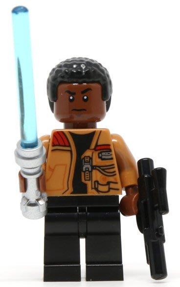 【LEGO 樂高】全新正品 益智玩具 積木/ Star Wars 星際大戰 75139   單一人偶: 芬+藍色光劍+槍