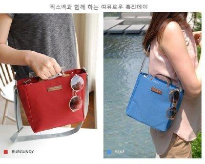 法蒂希大容量純色旅行收納包 / 手提包/ 肩背包/ 包中包/ 斜跨包