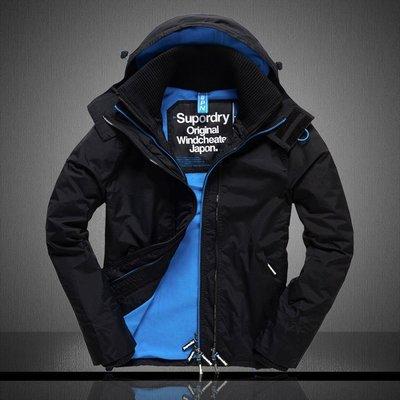 2016新款極度幹燥男裝工裝夾克連帽加絨加厚秋冬裝休閑外套登山服