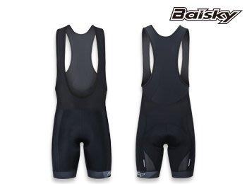 BAISKY 自行車褲  黑騎 男款吊帶短褲   黑 6D座墊 【117202007】