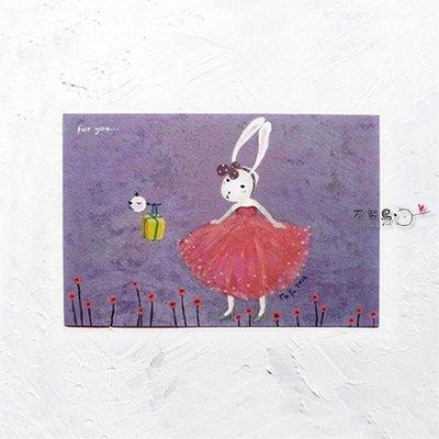 卡片 明信片 禮物卡*蕾絲兔-for you*不哭鳥