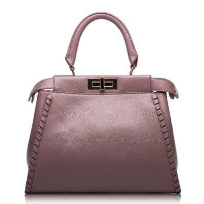 手提 包 真皮 肩背 包-歐美時尚高雅氣質女包包4色73se6[獨家進口][米蘭精品]