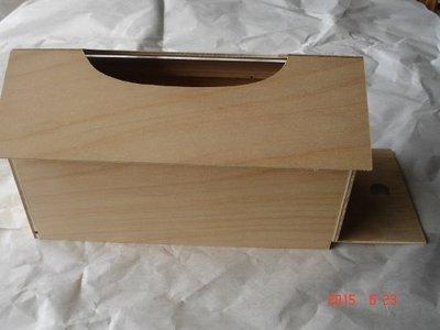 《多桑原木傢飾》面紙盒~木器彩繪~蝶古巴特~押花~黏土~勞作手作材料