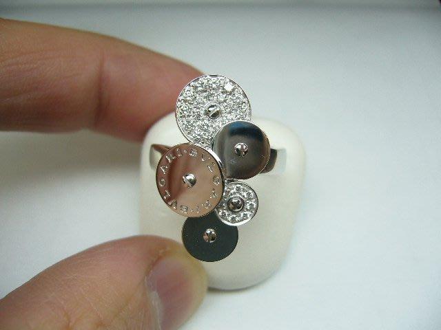 [吉宏精品交流中心]BVLGARI 寶格麗 時來運轉 18白K金 原鑲鑽石 戒指(1)