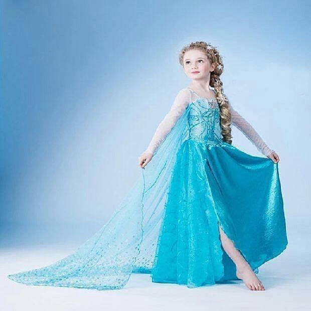【Kathie Shop】冰雪奇緣elsa艾莎公主連衣裙洋裝禮服裙萬聖節生日派對